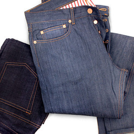 BAND OF OUTSIDERS - 5 Pocket Raw Denim Jeans