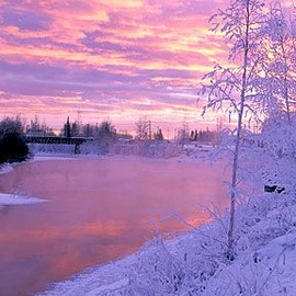 Chena River - Winter Sunset