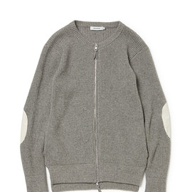 nonnative - OFFICER FULL ZIP SWEATER YAK WOOL