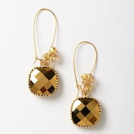ANTHROPOLOGIE - Gem Confetti Drops Gold