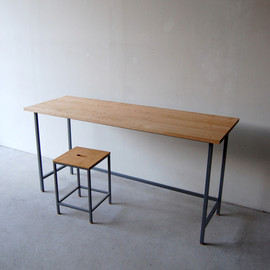 NAUT - 150 | 01_Resize standard furniture Frame desk st : W1,500 D500 H740 / Solid ash oil finish / Steel hardening melamine paint