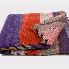 The Elder Statesman - Four Panel Cashmere Blanket Multi Color
