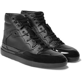 Balenciaga - Rubberised-Leather High-Top Sneakers