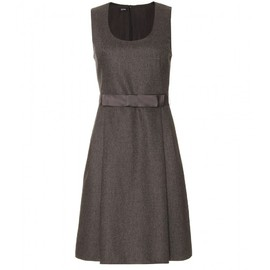 JIL SANDER NAVY - TAILORED DRESS WITH SATIN BOW