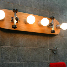 Skateboard  Bathroom Vanity Lighting Fixture. Wall lamp. 31""