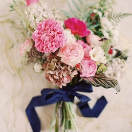 Jessica Burke - Navy and pink wedding inspiration