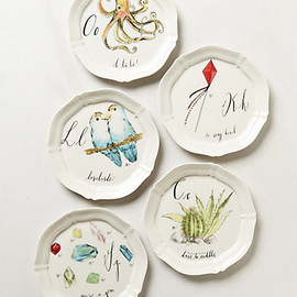 Anthropologie - Calligrapher Canape Plate