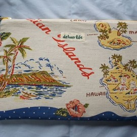 "detour life - Limited Clutch BAG""Hawaii""Print"