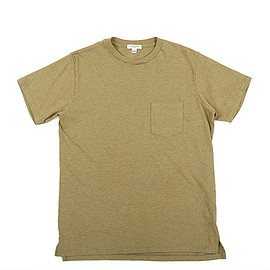 ENGINEERED GARMENTS - Cross Crew Neck T-shirt-Tshirt Jersey-Khaki