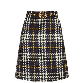 GUCCI - A-line tweed skirt