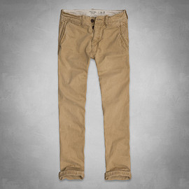 Abercrombie & Fitch - A&F SLIM STRAIGHT チノ