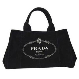 PRADA - Canvas Tote Bag  Black