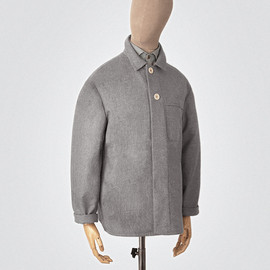 s.e.h kelly - Grey pin-dot wool-cashmere neat jacket