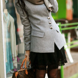 Casual Business Suit Notched Collar Single Breast Blazer Tunic Coat