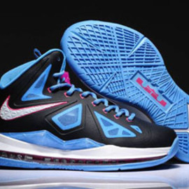 Lebron 10 Black/Photo Blue Nike Womens Size Shoes