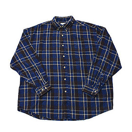 Eddie Bauer - Vintage 1990s 90s Eddie Bauer Blue/Brown Plaid Button Down Shirt Mens Size XL