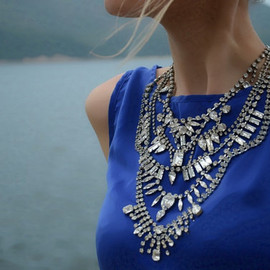 Aphrodite -Swarovski rhinestones statement necklace