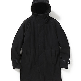 "nonnative - TOURIST HOODED COAT W/N MELTON WITH ""WINDSTOPPER®"" 2L"