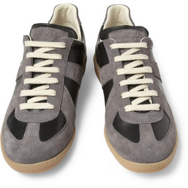 Maison Martin Margiela - Suede and Leather-Panelled Sneakers