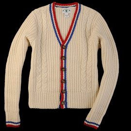 MICHAEL BASTIAN - Michael Bastian Irish Knit Tennis CardiganWinter is just around the corner and now is the time to stock up on a few new pieces. We like this cardigan from Michael Bastian that allows you to embrace the old man style your Grandfather is all about it. Worn with confidence, you won't get a single Mr. Rogers joke thrown at you by a friend with ill taste.