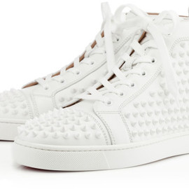 Christian Louboutin - Louis Spikes Mens Flat in White