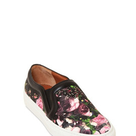 GIVENCHY - FLORAL NAPPA LEATHER SNEAKERS