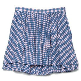 MARC BY MARC JACOBS - MOLLY CHECK JERSEY SKIRT