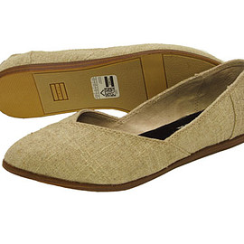 toms - Jutti Flat Womens in Natural Burlap by Toms