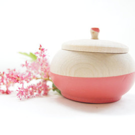 "Wooden Salad Bowl, 7"" Set of 2, Neon Pink, Neon Yellow, Summer Party, Salad Bowl"