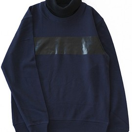 TOGA ODDS&ENDS - High Necked Sweat Tops (navy)