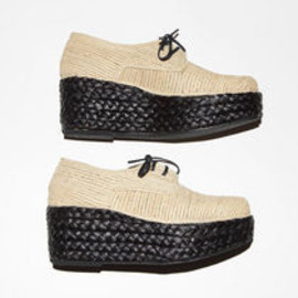 CARVEN - Braided Wedge Oxford