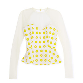 OPENING CEREMONY - Floral Stamped Sweetheart Top