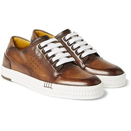 Berluti - Polished-Leather Sneakers
