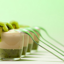 Kiwi Coconut Smoothie Shooters