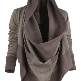 draped sweatshirt