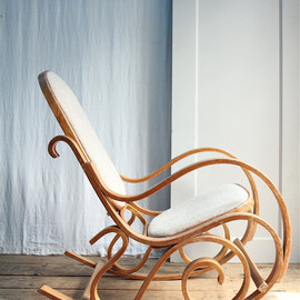 ethanollie - ON LAYAWAY Vintage 1970s California Bentwood Rocking Chair