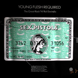 Jamie Reid - SEX PISTOLS - YOUNG FLESH REQUIRED 1/50 Signed
