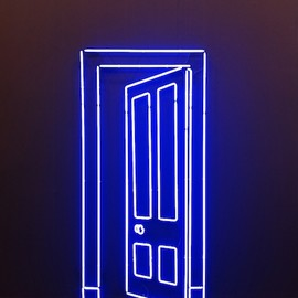 Gavin Turk - neon work at Almine Rech