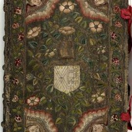 17th century embroidered Canvas book,