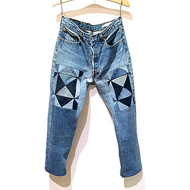Children of the discordance - OLD PATCH DENIM PANTS