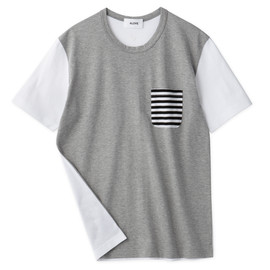 Aloye - Dots & Stripes #9 / Short-Sleeve Pocket T-Shirt