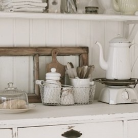 Vintage shabby kitchen.
