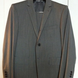 THOM BROWNE - Gray Suit with mesh lining