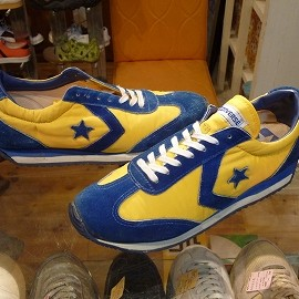 """converse - 「<used>70's converse STAR FIRE blue/yellow""""shoe made in USA"""" size:US10/h 16800yen」完売"""