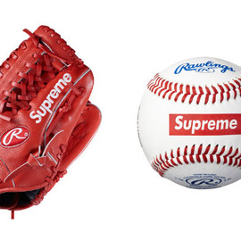 Supreme x Rawlings - Baseball Glove and Baseball