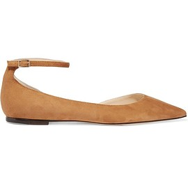 Jimmy Choo - Lucy suede point-toe flats