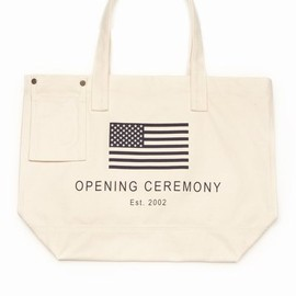 Opening Ceremony - Exclusive OC Flag Tote - Ivory/Navy - 810