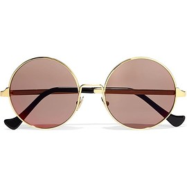 Cutler and Gross - Round-frame gold-plated sunglasses