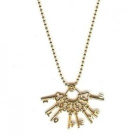 "Chan Luu - ""I Love You"" Key Charm Necklace"