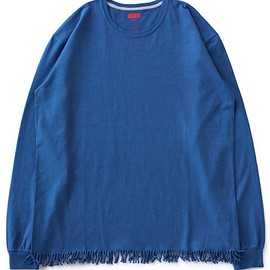 ETHOS - Fringe Long Tee (blue)